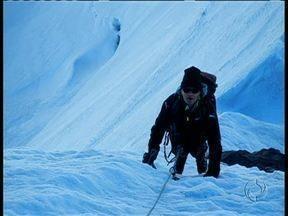 Joel Kriger mostra fôlego para novas aventuras - Atletas desafia limites e se prepara escalar o Everest