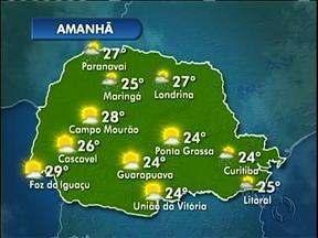 Tempo instável em todo o Paraná neste sábado. - Máxima de 24 graus em Curitiba e de 25 nas praias.