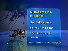 Cidades da região de Sorocaba, SP, intensificam combate à dengue - As equipes de vigilância epidemiológica de toda a região intensificam os trabalhos de combate à dengue. Sorocaba é a cidade com o maior número de casos. Em Votorantim, os agentes fazem a nebulização e visitam as casas dos bairros.