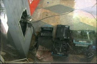Criminosos rendem gerente de supermercado para arrombar caixa eletrônico no ES - A quantia levada do caixa eletrônico, instalado no supermercado, não foi informada. Nenhum dos bandidos foi preso.