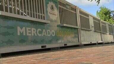 Vendedores de peixe da Beira Mar serão transferidos para novo espaço - Antigo mercado passa por reforma de qualificação.