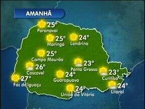 Tempo segue aberto no Paraná - Sem previsão de chuva a umidade do ar fica mais baixa.