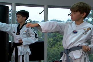 Mlkada no GE: taekwondo para a garotada ganhar disciplina e gastar energia - Artes marciais tornam-se atividades preferidas dos pais para o aprendizado dos filhos.