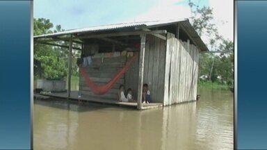 Cheia deixa comunidades alagadas e inunda plantações em Tabatinga, no AM - Pelo menos 27 comunidades foram prejudicadas pela cheia do Rio Negro