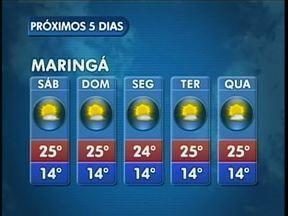 O fim de semana vai ser ensolarado em Maringá - A temperatura máxima fica em torno dos 25 graus