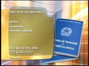 Confira as vagas de emprego disponíveis na região noroeste paulista - Para quem está em busca de emprego, confira as vagas divulgadas pelo Bom Dia Cidade desta segunda-feira (22) para a região de São José do Rio Preto (SP). São diversas vagas em três cidades da região.