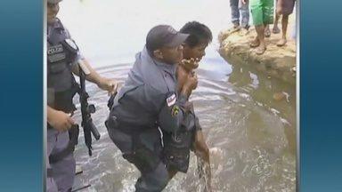Caseiro mata filha e neto de patrão no interior do Amazonas, diz polícia - Caseiro foi encontrado com neta do patrão próximo ao local do crime.