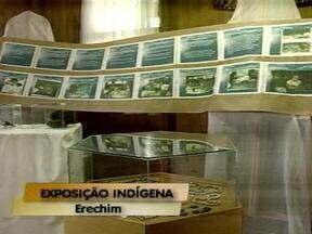 Miscigenação é tema de exposição em Erechim, RS - Peças da cultura indígena estão expostas no Espaço Cultura Viva.