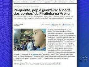'Piratinha'conhece a Arena e torce por Barcos na Libertadores - Menina faz tratamento contra a leucemia.