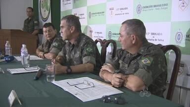 Operação prende 12 pessoas em flagrante na faixa de fronteira, em RO - A Operação Curare V realizada pelo Exército e órgãos parceiros na região de fronteira nos estados de Rondônia e Acre prendeu 12 pessoas em flagrante, drogas e US$ 120 mil. A operação foi realizada entre os dias 2 de abril de 2 de maio.