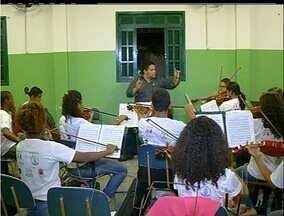 Campos dos Goytacazes, RJ, realiza pela primeira vez um festival sinfônico - Músicos passam por oficinas.