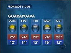 Domingo deve ser mais quente na região - As temperatuas sobem um pouco e o dia começa com 12 graus em Guarapuava.