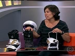 Isabel Clark fala sobre as semelhanças entre o Sandboard com o Snowboard - Esporte é muito praticado em Santa Catarina e no Ceará.