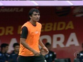 Marcelo Moreno participa de jogo treino do Flamengo - Atacante marcou o gol do empate em 1 a 1 com o Audax Rio