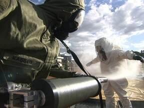 Exército faz simulação de ataque terrorista - O Exército simulou um ataque terrorista à Estação da Caesb, perto do Estádio Nacional. O treinamento acontece com foco nos eventos esportivos que acontecerão a partir do próximo mês.