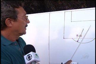 Presidente explica erro em marcação do pênalti em estádio - Marca errada gerou polêmica.