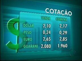 Confira a cotação das moedas nas casas de câmbio de Foz - O dólar vale R$ 2,10 na venda e R$ 2,17 na compra.