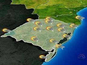 RS terá chuva em grande parte das regiões nesta terça-feira - Precipitação será em pouc quantidade.
