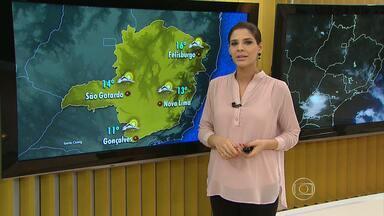Frente fria provoca queda de granizo no Sul de Minas - Previsão é de chuva em grande parte do estado nesta quarta (29).
