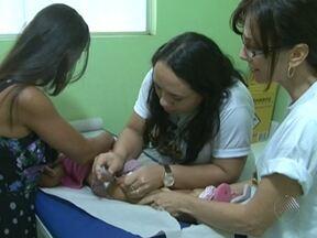 Campanha contra a paralisia infantil também é realizada no interior do estado - A vacinação na zona rural de alguns municípios só começará na próxima semana.