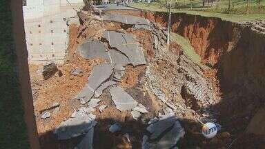 Relatório de equipamento instalado na cratera de Campinas sai após uma semana do incidente - O primeiro relatório do equipamento instalado para mostrar a movimentação do solo na cratera aberta em Campinas (SP) saiu na quarta-feira (12), após uma semana do incidente.