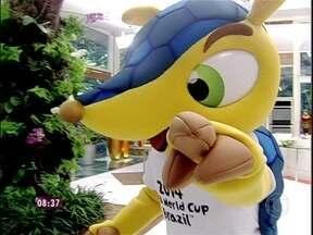 Ana Maria recebe Fuleco, o mascote da Copa 2014, na casa de cristal - Apresentadora explica a origem do nome do boneco: 'Futebol e ecologia'