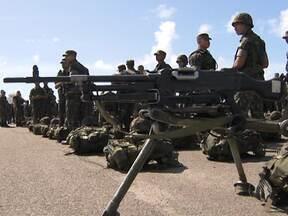 Grupo do Exército que vai atuar na Copa das Confederações é apresentado - Mais de mil homens vão se dividir em locais considerados estratégicos durante evento.