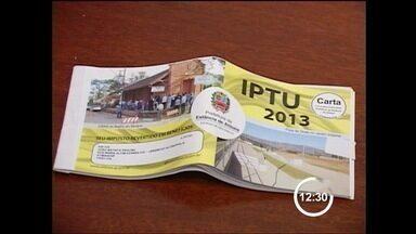 IPTU de Atibaia pode aumentar no ano que vem - O IPTU em Atibaia (SP) pode dobrar de valor no ano que vem. A prefeitura da cidade já enviou para a Câmara um projeto de lei para atualizar o valor dos imóveis usado no cálculo do imposto.