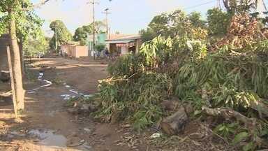 Moradores cobram melhorias em ruas do Bairro Castanheira, em Porto Velho - Entulhos impedem até a passagem do caminhão de coleta do lixo.