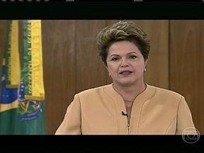 Dilma faz pronunciamento após manifestações - A presidente disse que vai trazer mais médicos para a área da saúde. Ela falou em cadeia nacional que vai receber os líderes das manifestações e que a polícia deve coibir a arruaça.