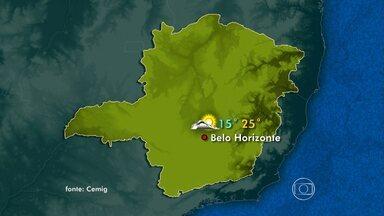 Veja a previsão do tempo para Minas Gerais - Frente fria vinda de São Paulo provoca tempo estável no Sul e na Zona da Mata.