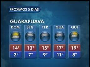 O domingo deve começar com sol e mais frio em Guarapuava - O sol vai aparecer no domingo, mas a segunda-feira deve ter chuvas novamente.