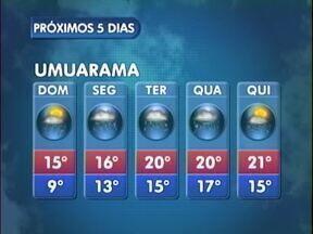 Domingo deve ser de frio no Noroeste - Inverno chegou com temperaturas baixas em toda a região Noroeste do Paraná.