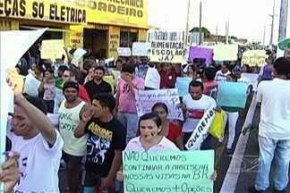 Em Codó, população também foi às ruas protestar contra a corrupção - Além disso, manifestantes pediram melhorias na saúde, na educação e no transporte público.