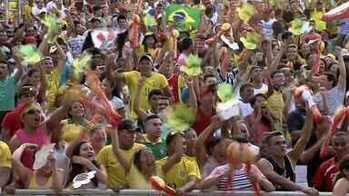Brasil vence a itália por 4 a 2 e termina em primeiro lugar no Grupo A - Neymar, Fred (2) e Dante marcaram os gols brasileiros