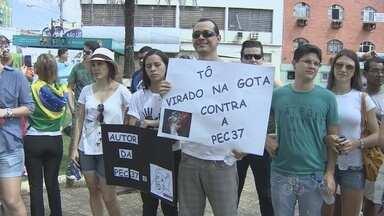 Em Porto Velho, ato contra a PEC 37 leva crianças, jovens e adultos à praça - Segundo a organização, mais de 25 mil assinaturas já foram colhidas em RO.