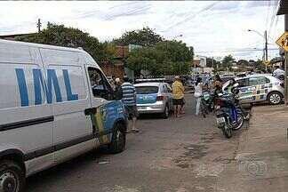 Homem morre ao tentar impedir fuga de assaltantes, em Aparecida de Goiânia - Vítima foi atingida com um tiro no peito quando tentou evitar que ladrões de um supermercado fugissem.