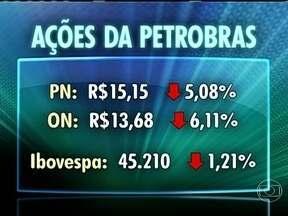 Ações da Petrobras fecham no menor nível em oito anos - As ações preferenciais terminaram o pregão valendo R$ 15,15, na menor cotação desde dezembro de 2008. A Petrobras puxou o Ibovespa para baixo, que fechou com queda de 1,2%.