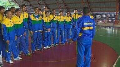 Torneio de Handebol começa em Manaus - Com a presença da seleção da Venezuela, a Vila Olímpica de Handebol teve início em Manaus.