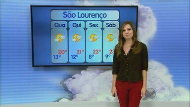 Confira a previsão do tempo para esta terça-feira (9) no Sul de Minas - Confira a previsão do tempo para esta terça-feira (9) no Sul de Minas