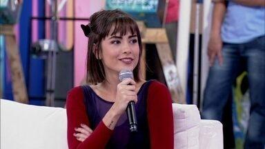 Maria Casadevall diz que está realizando um sonho - Atriz diz que vida de sua personagem volta para o lugar