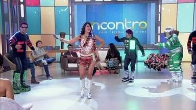 Lady Green, Marlon Branco e a equipe treme dançam o carimbó - Cantora fala sobre as festas de aparelhagem no Pará