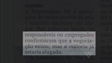 Quiosques são alugados ilegalmente em Santos - Concessão de quiosques são intransferíveis