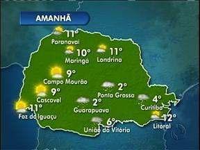 Pode nevar em várias regiões do estado nesta terça-feira - Máxima na capital não passa dos 4º.