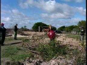 Ibama e Patam notificam morador do Corredor do Leopoldo no Cassino em Rio Grande, RS - Ibama foi até o local após receber denúncias.