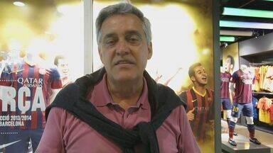 Mauro Naves comenta expectativa de Neymar sobre chegada definitiva em Barcelona - O jornalista Mauro Naves, da TV Globo, fala sobre o voo que levou Neymar para Espanha e comenta a expectativa do craque em chegada definitiva em Barcelona