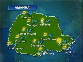 Domingo com pancadas de chuva no Paraná - Só em Curitiba não deve chover no domingo.