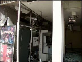 Bandidos explodem caixa eletrônico de agência bancária em Céu Azul - Duas explosões foram ouvidas por moradores.