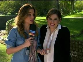Ana Furtado conversa com Bárbara Paz sobre a revelação de que Jonathan é filho de César - Atriz comenta tudo o que está rolando em Amor à Vida
