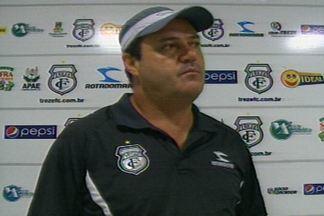 Vica não é mais técnico do Treze - Depois de quatro jogos consecutivos sem vitória, sendo três derrotas, a diretoria alvinegra decidiu mudar o comando do time, que está na zona de rebaixamento da Série C do Brasileirão.